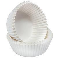 Высокие Белые - Тарталетки бумажные для кексов, 50шт