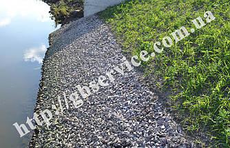 Укрепление берега габионами откосного типа в Макаровском районе Киевской области
