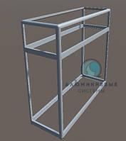 Торговый прилавок из алюминиевого профиля для самостоятельной сборки. Каркас для модели - 7