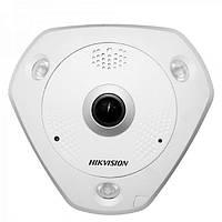 FishEye IP-камера з ІЧ-підсвічуванням Hikvision DS-2CD6332FWD-IV, 3 Mpix, фото 1