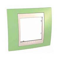 SHNEIDER ELECTRIC UNICA PLUS Рамка одномодульная Зелёное яблоко