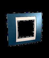 SHNEIDER ELECTRIC UNICA PLUS Рамка одномодульная Голубой лед