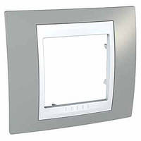 SHNEIDER ELECTRIC UNICA PLUS Рамка одномодульная Туманно-серый