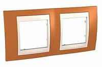 SHNEIDER ELECTRIC UNICA PLUS Рамка двухмодульная горизонтальная Оранжевый