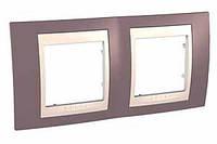 SHNEIDER ELECTRIC UNICA PLUS Рамка двухмодульная горизонтальная Лиловая