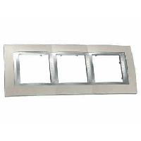 SHNEIDER ELECTRIC UNICA PLUS Рамка трехмодульная горизонтальная Алюминий