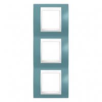 SHNEIDER ELECTRIC UNICA PLUS Рамка трехмодульная вертикальная Синий