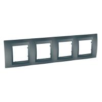 SHNEIDER ELECTRIC UNICA PLUS Рамка четырехмодульная горизонтальная Графит