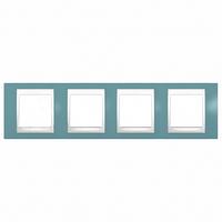 SHNEIDER ELECTRIC UNICA PLUS Рамка четырехмодульная горизонтальная Синий