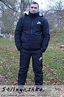Мужской костюм на синтепоне Nike черный