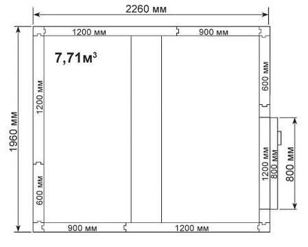 Холодильная камера Полаир КХН 7,71, фото 2