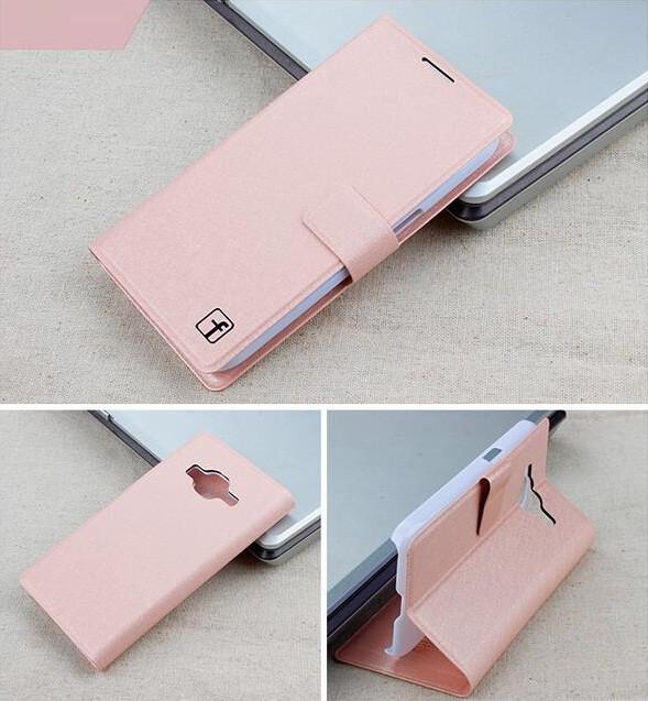 Чехол Samsung G360 / G361 / Galaxy Core Prime книжка Flower Ultrathin розовое золото