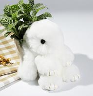 Меховой Кролик - брелок Rex Fendi, белый