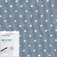 Ткань для вышивания  Belfast Petit Point 32 (ширина 140 см) античный синий в белый горошек