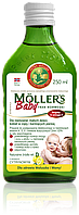 Moller's tran omega-3 норвежский рыбий жир для детей от 6 месяцев  и их мам 250 мл с лимоном