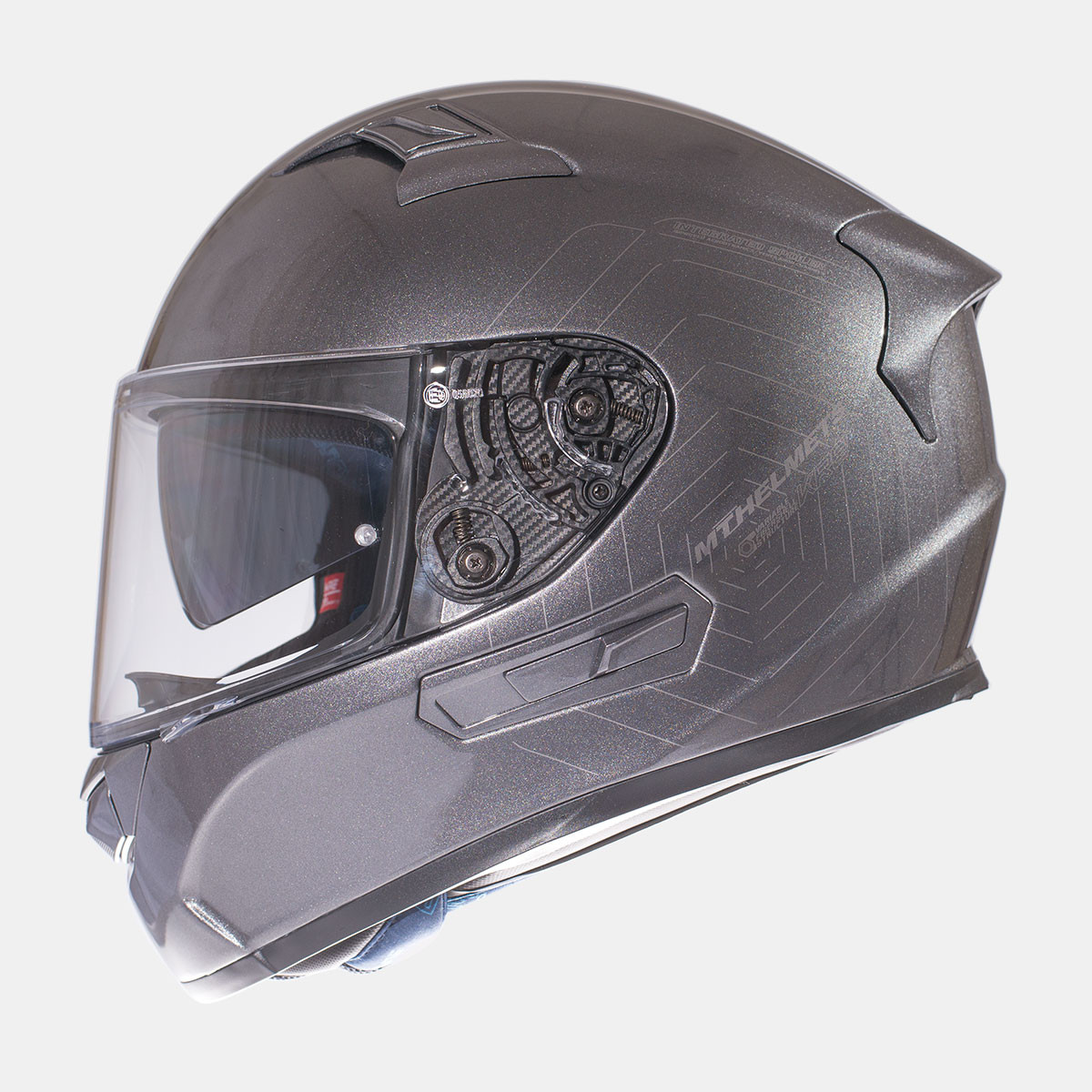 Мотошлем MT KRE SV Solid Gloss Titanium