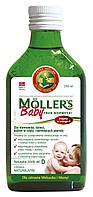 Moller's tran omega-3 норвежский рыбий жир для детей от 6 месяцев  и их мам 250 мл без добавок
