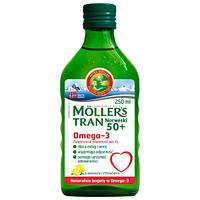 Moller's tran omega-3 норвежский рыбий жир для старших 50+лет  250 мл с лимоном