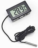 Цифровой термометр TPM-10 черный с выносным датчиком