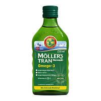 Moller's tran omega-3 норвежский рыбий жир натуральный без добавок  250 мл