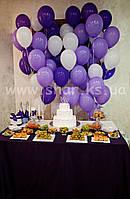 Гелиевые шары фиолетовых оттенков