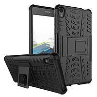 Чехол Sony Xperia E5 / F3311 противоударный бампер черный