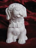 Гіпсова фігурка для розмальовки. Гипсовая фигурка для раскраски. Собака СУПЕРОВА 9.5 см