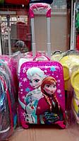 """Чемодан дорожный детский на четыре колеса """"Frozen""""."""
