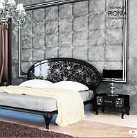"""Спальний гарнітур """"Піонія"""" (Глянець Чорний-Срібло)"""