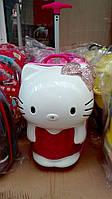 "Чемодан дорожный детский на два колеса ""Hello Kitty""."