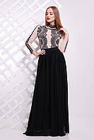 Кружево черное платье Памония Д/Р