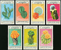 Монголия 1989 - цветы - кактусы - MNH XF