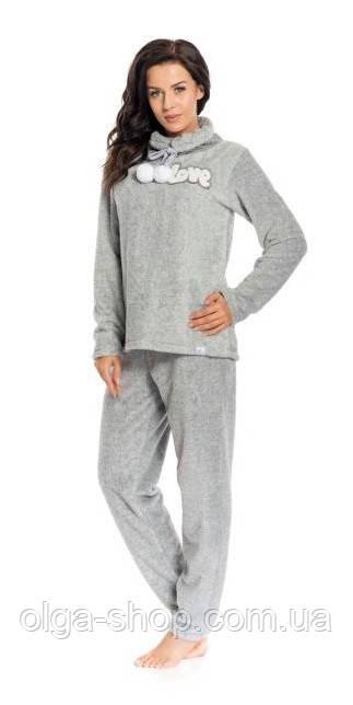 Пижама женская теплая зимняя плюшевая Dobra Nocka 8076