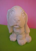 Гіпсова фігурка для розмальовки. Гипсовая фигурка для раскраски. Собака 10.5 см