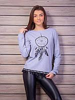 Серый свитер ловец снов