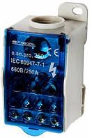 Блок распределительный e.sn.pro. 250 на DIN-рейку, 250А (вход 1*35,,,120 кв.мм/выход 2*6...35, 5*2,5...16, 4*2