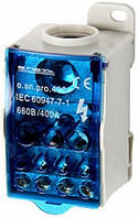 Блок распределительный e.sn.pro. 400 на DIN-рейку, 400А (вход 1*95,,,185 кв.мм/выход 2*6...35, 5*2,5...16, 4*2