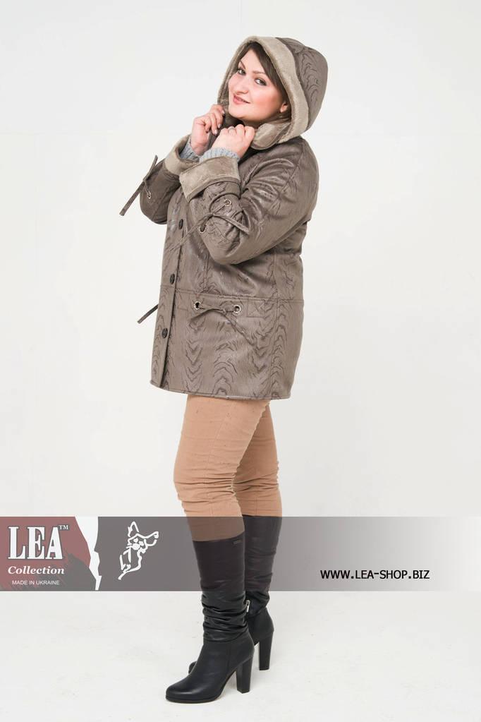 Женская куртка больших размеров на искусственном меху  №4 ГК