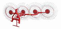 Грабли ворошилки 4-колесные Agromech для минитракторов