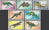 Монголия 1991 - ящерицы - MNH XF