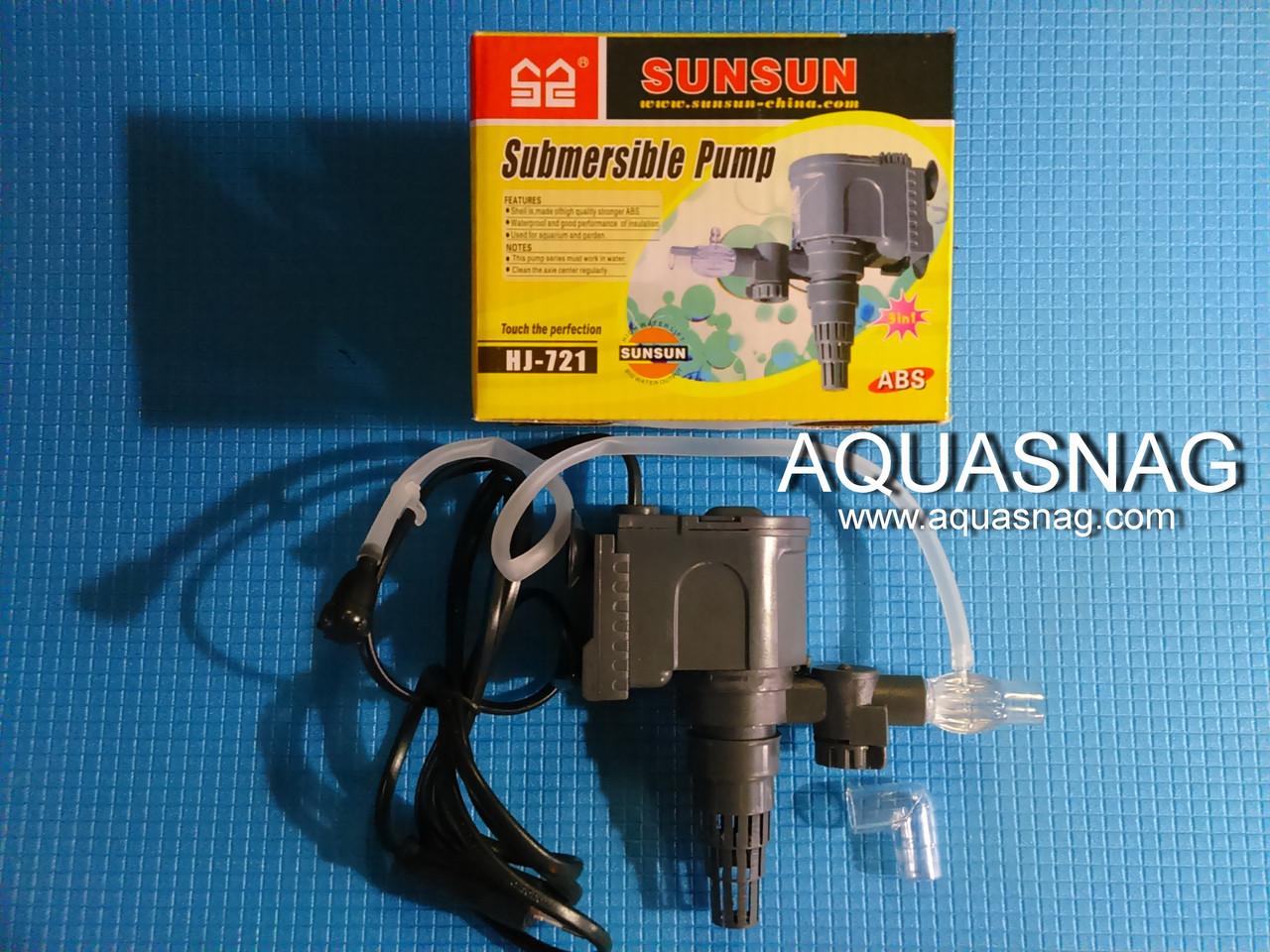 Головка SunSun HJ-721, с регулировкой,600л/ч, 8W, Hmax-0.8м на объем от 50 до 200л.