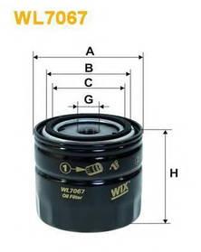 Фильтр масляный WIX WL7067