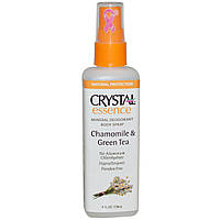 Crystal Essence Deodorant Chamomile & Green Tea Spray Спрей-дезодорант(ромашка и зеленый чай), 118мл
