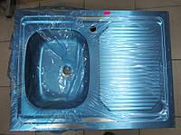Мойка накладная из нержавеющей стали 600 х 800 мм (толщина 0,8 мм) Запорожсталь.