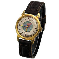 Позолоченные советские часы Спутник