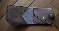 """Шкіряний гаманець кожаный кошелек """"Flag"""" ручної роботи, натуральна шкіра, на кнопці, фото 1"""