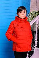 Куртка весенняя для девочки «Миледи», коралл