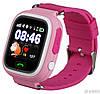 Детские Smart часы Q100 (Q90s)-Vibro, Розовые (Wi-Fi, cенсор)