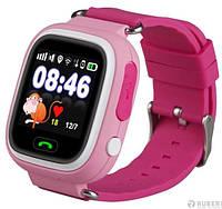 Детские Smart часы Q100 (Q90s)-Vibro, Розовые (Wi-Fi, cенсор), фото 1