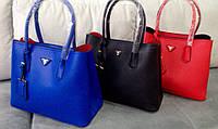 Женская сумка красного цвета. Prad... Материал эко коже. Размер 37х29